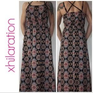 LIKE NEW Xhilaration Black Lace Maxi Dress Small S